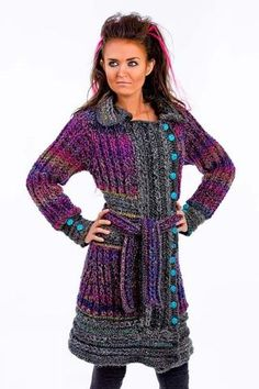 Picture of Braided Glam Peacoat Crochet Pattern Download  Love this.  From Maggies Crochet