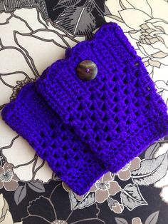 Purple Crochet Boot Cuff with Button on Etsy, $20.00