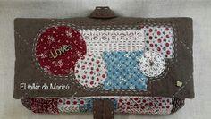 El taller de Maricú: Boro Clutch bag... Sashiko Embroidery, Darning, Boro, Felt Crafts, Clutch Bag, Patches, Pouch, Japanese, Crafty