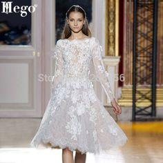 Dream Wedding Dress Designers: Elie Saab v Zahair Murad (v Aire Barcelona) Elie Saab, Short Lace Wedding Dress, Long Sleeve Wedding, Short Dresses, Prom Dresses, Wedding Dresses, Dresses 2014, Lace Dresses, Cheap Dresses