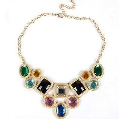 Arrival Women Gold Plated Choker Necklace Multicolor Acrylic Stone. $5.99 on Ebay for an unbelievable value. Looks like an Million