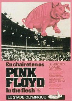 Pink Floyd at Montreal Concert Poster 1977 in Rock Music Posters Tour Posters, Band Posters, Music Posters, Pop Rock, Rock N Roll, Blues Rock, Recital, Musica Punk, Pink Floyd Concert