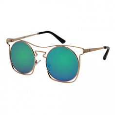 MONROE - Round Hipster Flat Sunnies w/ Mirrored Lens by EDGEIWEAR -- See more frame and lens colors by clicking this pic! :)