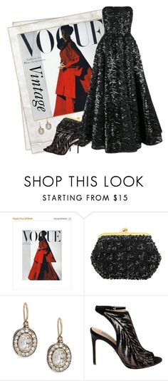 """""""Vintage Vogue"""" by ritadolce ❤ liked on Polyvore featuring Polaroid, Azaara, Badgley Mischka and vintage"""