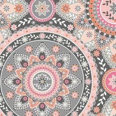 'Silent Cinema' ~ fabric designer Jenean Morrison #fabric #medallion #mandala