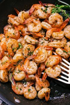 Garlic Butter Shrimp are so easy and delicious to make you will find a reason to have them as often as you can. Sautéed in herbs, garlic and butter and ready to eat in 15 minutes or less. Frozen Shrimp Recipes, Grilled Shrimp Recipes, Prawn Recipes, Fish Recipes, Seafood Recipes, Cooking Recipes, Healthy Recipes, Sauteed Shrimp Recipe, Buttered Shrimp Recipe