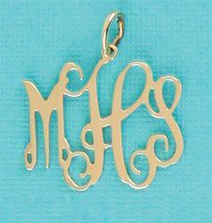 EmilyRoseJewellery Monogrammed Jewelry Gifts #monogram #initials #pendant