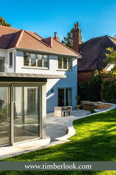 Heritage windows and doors, hand-built in uPVC. Timberlook flush sash windows have traditional features & period character, perfect for conservation areas. Sash Windows, House Windows, Windows And Doors, Timber Windows, Casement Windows, Traditional Windows, Traditional House, Anthracite Grey Windows, Modern Properties