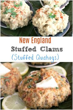 New England Stuffed Clams Quahogs New England Style Stuffed Clams Also Called Stuffed Quahogs Hard Shelled Clams Are A Regional Favorite In Rhode Island Around Narragansett Bay And Along The Coastline Is Southern Massachusetts And The Cape Clam Recipes, Seafood Recipes, Cooking Recipes, Free Recipes, Chicken Recipes, Seafood Bake, Seafood Dishes, Rhode Island, Seafood