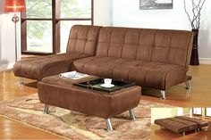 Brown Futon Sofa Sleeper #KBHome