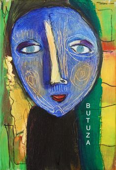 Swiss Artist Painter   Painted by Cathy Butuza #outsiderart #artbrut #facesart #art #artist #artistic #painting #acrylic