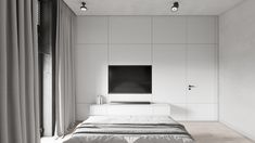 Check out this beautiful apartment created by Huge Studio  on nazzainteriordesign.com  #apartmentdesign #livingroom #kitchen #minimalistdesign #interiordesign #passionforinteriors #amazingspaces #bright #bedroom #bedroomdesign