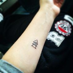 If you add a triangle for every friend who does it with you, to symbolize being friends for life