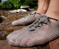 Chainmail Shoes | DudeIWantThat.com.  I'm not sure how comfortable they are though LOL :)