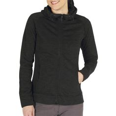 ExOfficio ExO Arrojo Hoodie - Dri-Release®, FreshGuard, Full Zip (For Women) in Black
