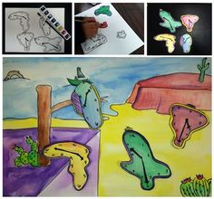 """Telling time with Salvador Dali! Introduce students to the surrealist artist Salvador Dali and his famous painting """"The """"Persistence of Memory"""" and review telling time on some """"unusual"""" clocks!"""