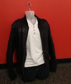 Guys this #Danier leather jacket is all you need to make your outfit rock! Find it at #PlatosCloset for JUST $70! | www.platosclosetnewmarket.com