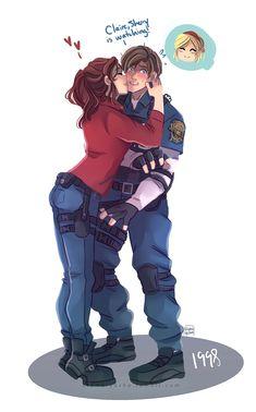 Resident Evil 3 Remake, Resident Evil Franchise, Resident Evil Anime, Resident Evil Girl, Leon S Kennedy, Evil Art, Video Games Girls, Baseball Drawings, Anime Kiss