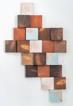Make your own DIY Wood Wall Art from scrap lumber and get a high-end, art gallery look for just a few dollars! Diy Wooden Wall, Large Wood Wall Art, Reclaimed Wood Wall Art, Rustic Wall Art, Wood Wall Decor, Diy Wall Art, Scrap Wood Art, Wood Sample, Wood Scraps