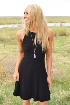 Star Struck Flare Dress Black