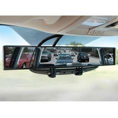 The No Blind Spot Rear View Mirror - Hammacher Schlemmer OMG WANT!!!