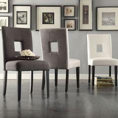 TRIBECCA HOME Mendoza Keyhole Back Dining Chairs (Set of 2) #TribeccaHome