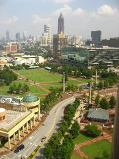 Downtown Atlanta Georgia View From Omni Hotel At CNN Studios Center by paul79uf, via Flickr