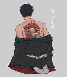 Медиа-твиты от 지원 (@ZX__HQ) | Твиттер Hot Anime Boy, Cute Anime Guys, Yakuza Anime, Character Art, Character Design Inspiration, Akaashi Keiji, Yakuza Tattoo, Anime Tattoos, Kuroo