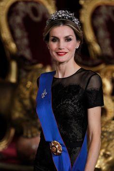 Queen Letizia in the Spanish Floral Tiara.
