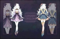 [Close] Design by Lonary on DeviantArt Dress Drawing, Drawing Clothes, Fashion Design Drawings, Fashion Sketches, Drawing Fashion, Anime Outfits, Cute Outfits, Anime Dress, Dress Sketches