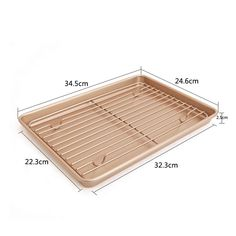 (This is an affiliate pin) CANDeal 13 inch Bakeware Set, Non-Stick Baking Trays and Roasting Rack Set, Cookie Sheet with Cooling Rack