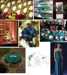 If I ever want a peacock blue wedding... I can sure do it.