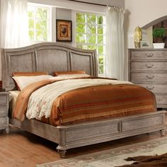 Features:  -Includes slat kit.  -Frame construction: Solid wood, wood veneer.  -Finish: Castle gray.  -Solid wood frame with English dovetail corners.  -Curving headboard with decorative panel design.