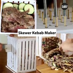 36 HOLES SKEWER KEBAB MAKER FOR BBQ This Kebab Maker Skewer is Awesome.Prepare your skewers of meat, vegetables and fruits easily. #36HoleSweker #HappyKitchen #Kababmaker Barbecue Grill, Grilling, Meat Skewers, Happy Kitchen, Kitchen Accessories, Fruit, Vegetables, Easy, Amazon