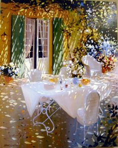 """French painter Laurent Parcelier interested in art from an early age, Parcelier attended the Applied Arts School in Dordogne. His obvious talent soon materialized into the publication of several of his albums called """"Le Drole de monde"""" (""""Strange World""""). His fame was beginning to spread and his way seemed all but traced out until the paining contest on the street where he was lent a canvas, paint and brushes."""