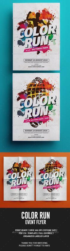 Color Run Fest PSD Template • Download ➝ https://graphicriver.net/item/color-run-fest/17043640?ref=pxcr