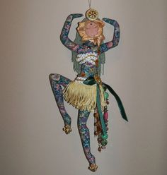 Dancing Diva Goddess cloth art doll ooak 12in. made by Arzie Hodge and sold on Etsy