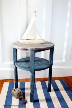 Nautical Side Table by FindingSilverPennies on Etsy, $145.00