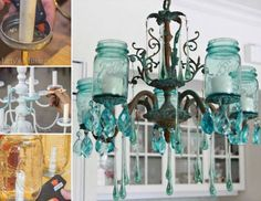 Mason Jar Light Fitting Chandelier Is Gorgeous | The WHOot