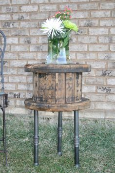 Old Wooden Spool Table....weathered by TreeStumpLane on Etsy, $155.00