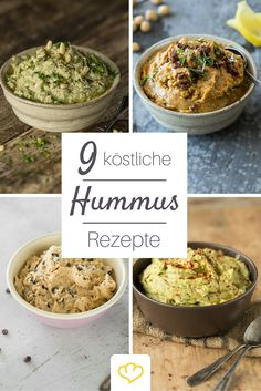11 hummus recipes for more variety in the dip Hummus Rezepte für mehr Abwechslung im Dip-Schälchen are the star of and not picky about other ingredients. About the recipes: www. Clean Eating Recipes, Raw Food Recipes, Appetizer Recipes, Vegetarian Recipes, Cooking Recipes, Healthy Recipes, Healthy Snacks, Healthy Eating, Soul Food