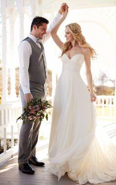 Wedding Separates   Silk Chiffon Beach Wedding Dress Separates   Martina Liana