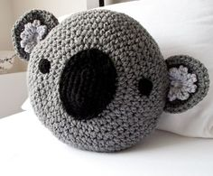 CROCHET KOALA PILLOW
