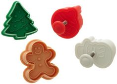 Ateco Christmas Plunger Cutters, Set of 4