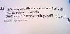 If homosexuality is a disease....