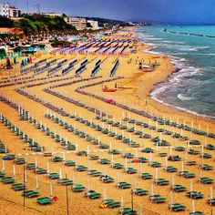 Travel the east coastline to find sandy beaches in Italy. Termoli is a great choice but be prepared for no English in all establishments.   Upload your App for basic Italian language. End of May is a great time to avoid crowds.