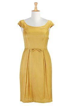 Liquid gold silk sheath dress; eShakti