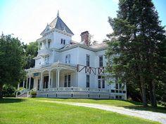 British American, Second Empire, Edwardian Era, Romanesque, Queen Anne, Victorian Homes, Vermont, Exterior, Mansions