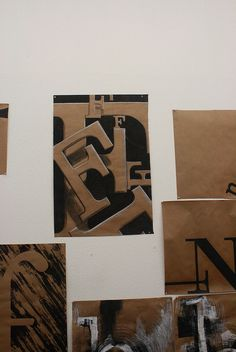 Critique, Typography One, Project One by KCAI Graphic Design, via Flickr