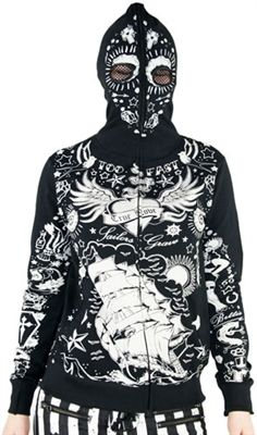 Too Fast - Skelly Full Zip Hoodie - Tattooed  - #infectiousthreads #goth #gothic #horrorpunk #punk #alt #alternative #psychobilly #gothhoodies #gothichoodies #punkhoodies #horrorpunkhoodies #althoodies #alternativehoodies #tattooes #tattooed